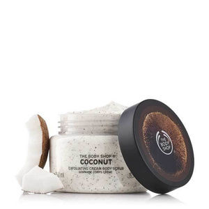 NEW!  THE BODY SHOP COCONUT EXFOLIATING BODY SCRUB